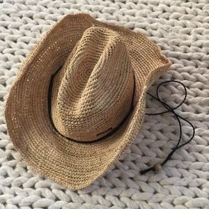 Rip Curl cowboy style straw hat, size Medium/large